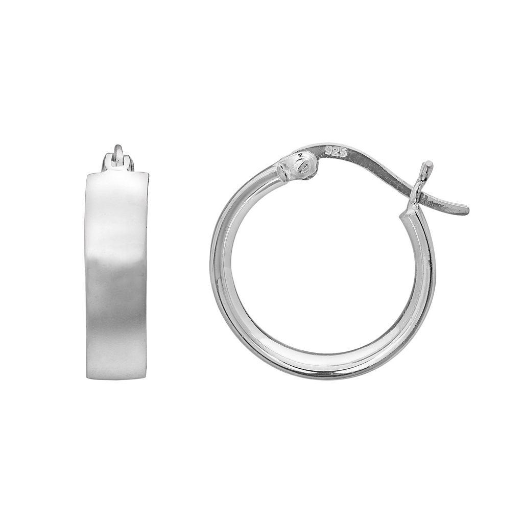 PRIMROSE Sterling Silver Hoop Earrings