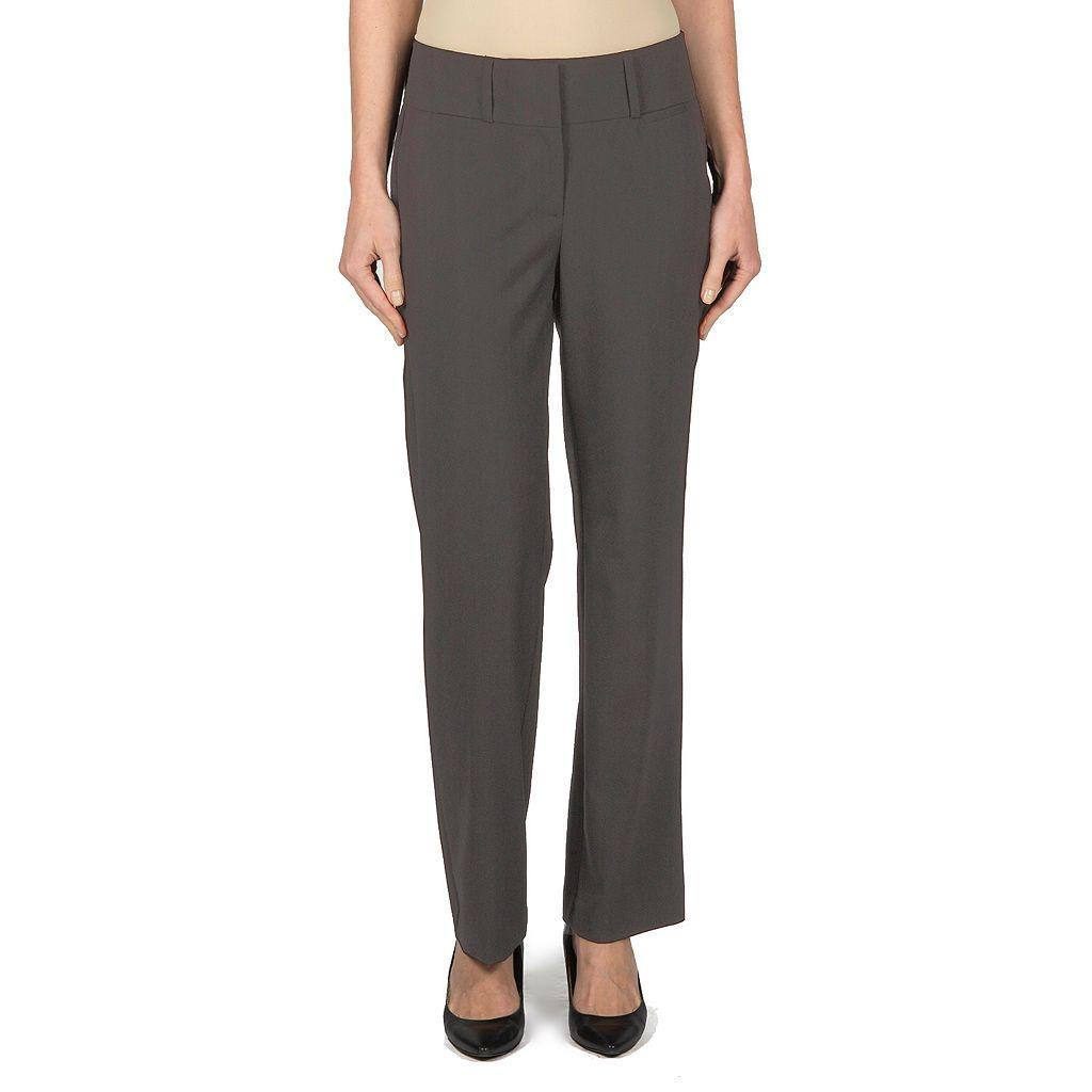 Women's Larry Levine Wide-Waist Flare Dress Pants