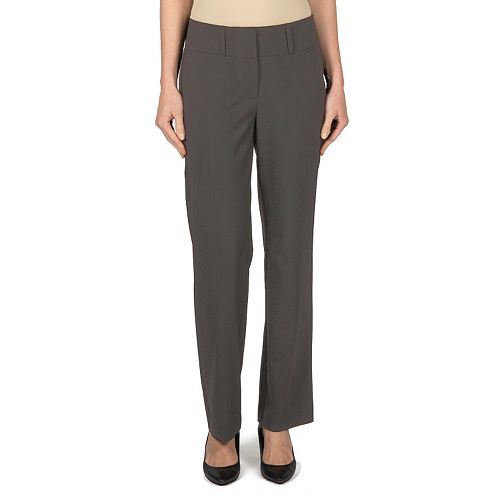 Women's Larry Levine Wide-Waist Flare Dress Pants