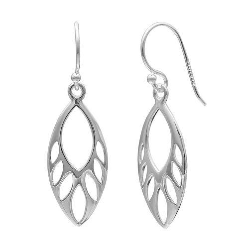 PRIMROSE Sterling Silver Marquise Teardrop Earrings