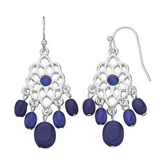 Chaps Beaded Chandelier Earrings