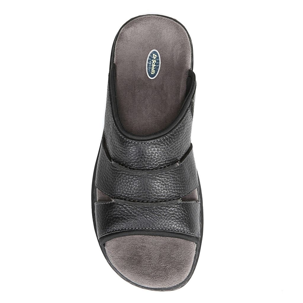 Dr. Scholl's Gordon Men's Leather Slide Sandals