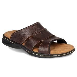 Dr. Scholl's Gordon Men's Leather Slide Sandals