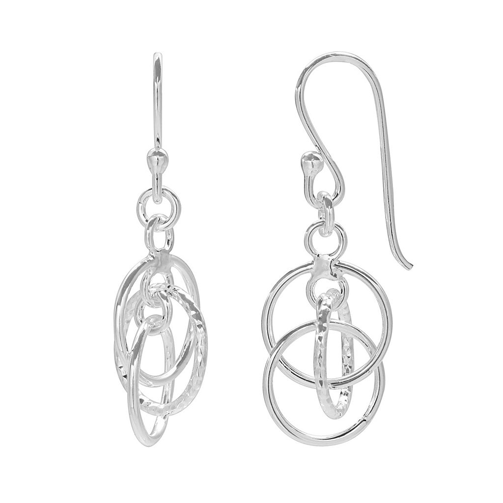 PRIMROSE Sterling Silver Circle Drop Earrings