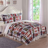 Preppy Plaid Quilt Set