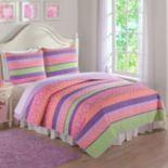 Anna's Pastel Stripe Quilt Set