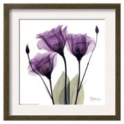 Art.com Royal Purple Gentian Trio Matted Framed Wall Art