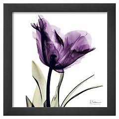 Art.com Royal Purple Parrot Tulip Framed Wall Art