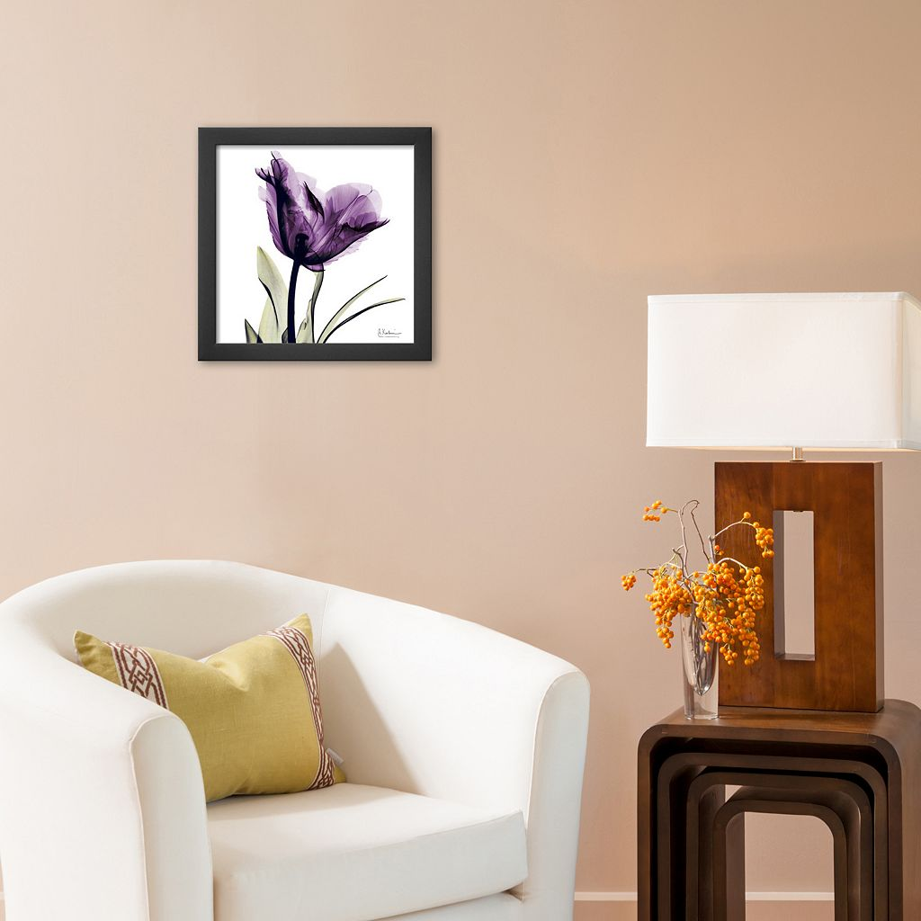 Art.com Royal Purple Parrot Tulip Framed Wall Art