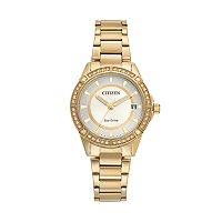 Drive from Citizen Eco-Drive Women's Crystal Stainless Steel Watch