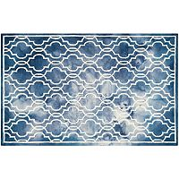 Safavieh Crosby Framed Quatrefoil Dip-Dyed Wool Rug