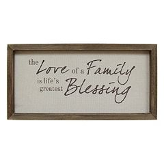 Stratton Home Decor 'Love Of A Family' Framed Wall Art