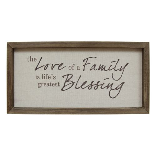 "Stratton Home Decor ""Love Of A Family"" Framed Wall Art"