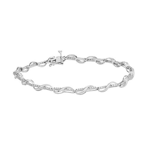 Sterling Silver 1/10 Carat T.W. Diamond Twist Bracelet