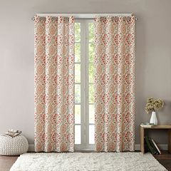 Intelligent Design 1-Panel Rimini Cotton Medallion Printed Window Curtain