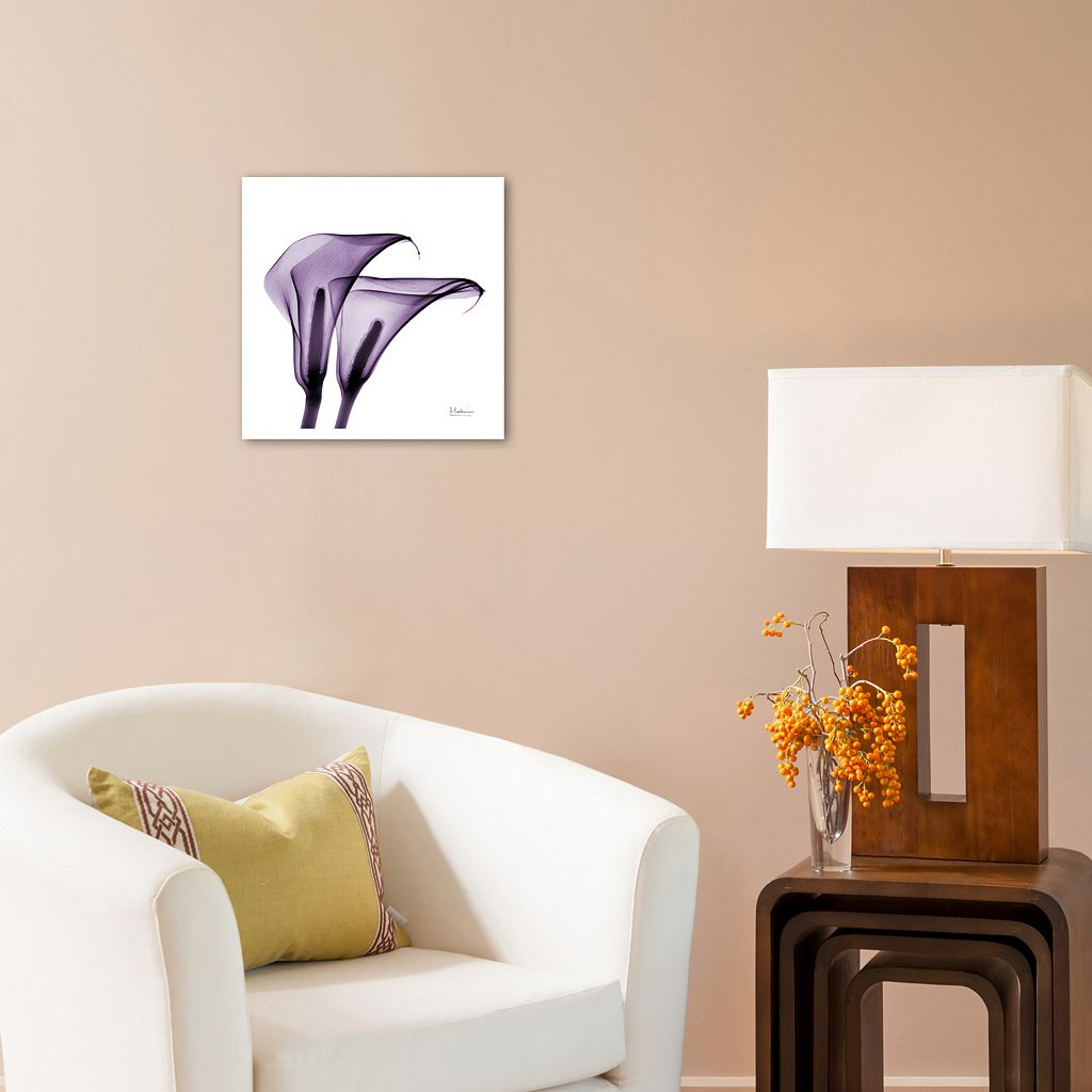 Art.com Violet Calla Twins II Wall Art Print