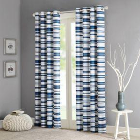 Intelligent Design Strider Cotton Stripe Printed Window Curtain