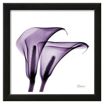 Art.com Violet Calla Twins II Framed Wall Art