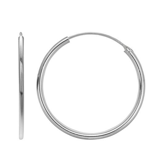 PRIMROSE Sterling Silver Endless Hoop Earrings