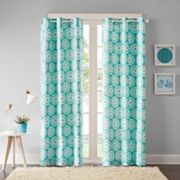 Intelligent Design 2-pack Valia Medallion Window Curtains