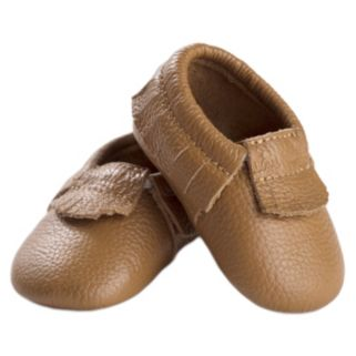 Itzy Ritzy Baby Moc Happens Toasted Almond Moccasins
