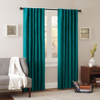 Madison Park Reiss Stud Trim Microsuede Window Curtain
