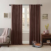 Madison Park Reiss Stud Trim Microsuede Curtain