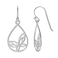 PRIMROSE Sterling Silver Butterfly Teardrop Earrings