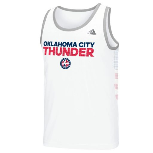 Men's adidas Oklahoma City Thunder Tip Off Performance Tank Top