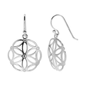 PRIMROSE Sterling Silver Flower Drop Earrings