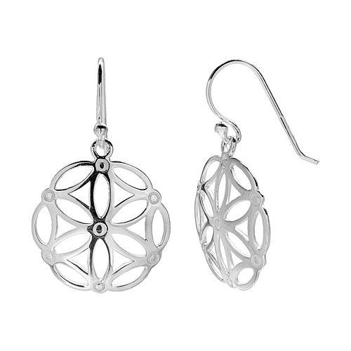 PRIMROSE Sterling Silver Flower Drop Earrings