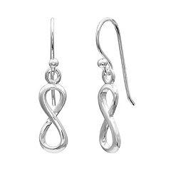 PRIMROSE Sterling Silver Infinity Drop Earrings