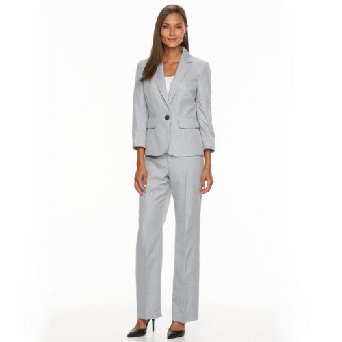 Women S Le Suit Striped Suit Jacket And Pants Set