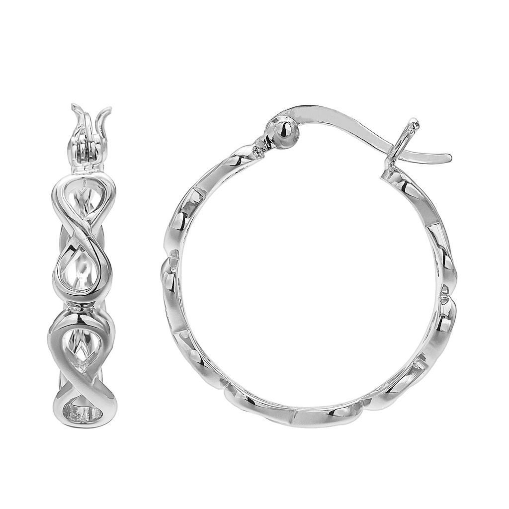 PRIMROSE Sterling Silver Infinity Hoop Earrings