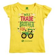 Girls 4-6x John Deere 'Will Trade Brother For' Tractor Tee