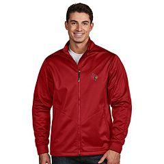 Men's Antigua Louisville Cardinals Waterproof Golf Jacket