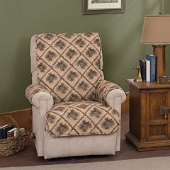 Innovative Textile Solutions Pine Cones Recliner Wing Chair Protector