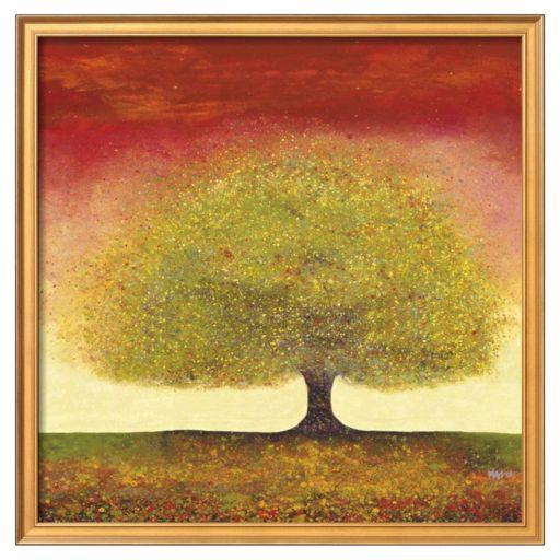 """Art.com """"Dreaming Tree Red """" Framed Wall Art"""