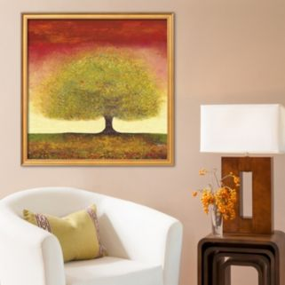 "Art.com ""Dreaming Tree Red "" Framed Wall Art"