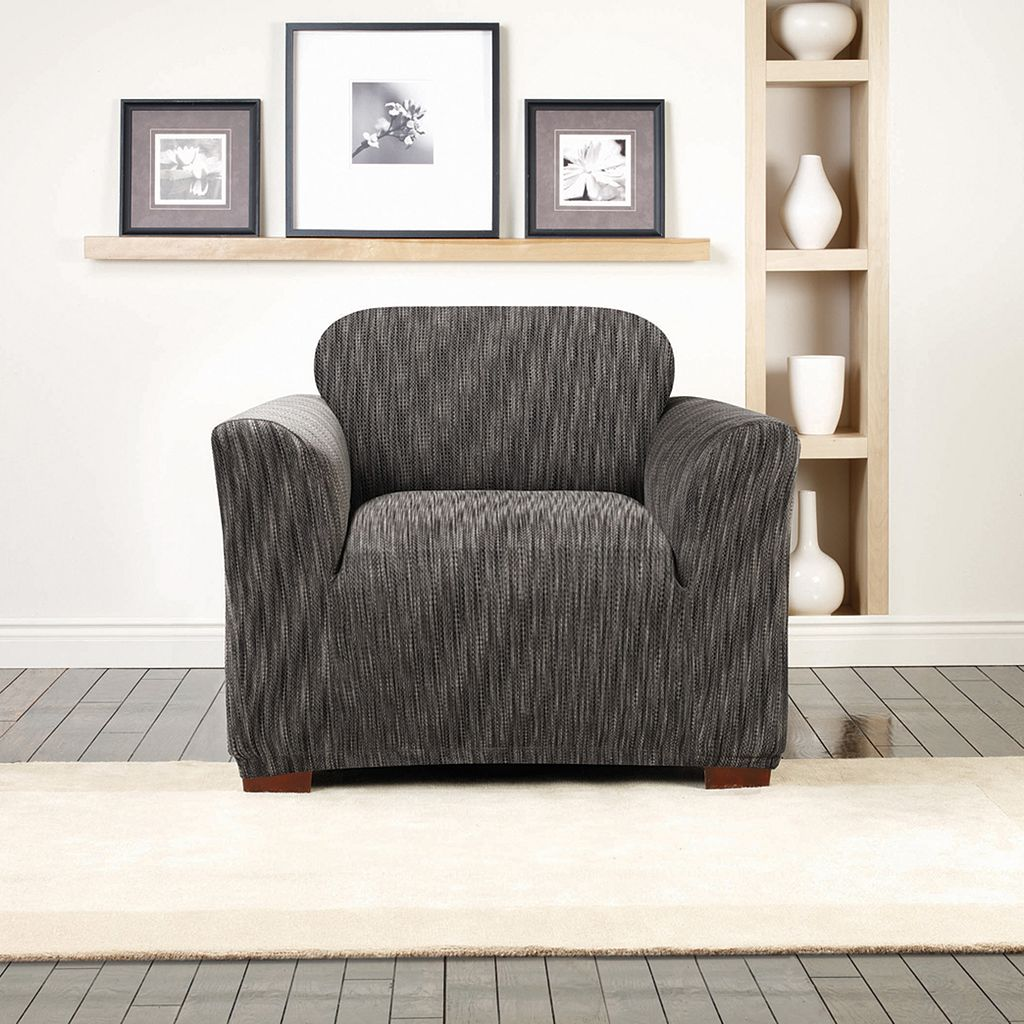 Sure Fit Stretch Space Dye Chair Slipcover