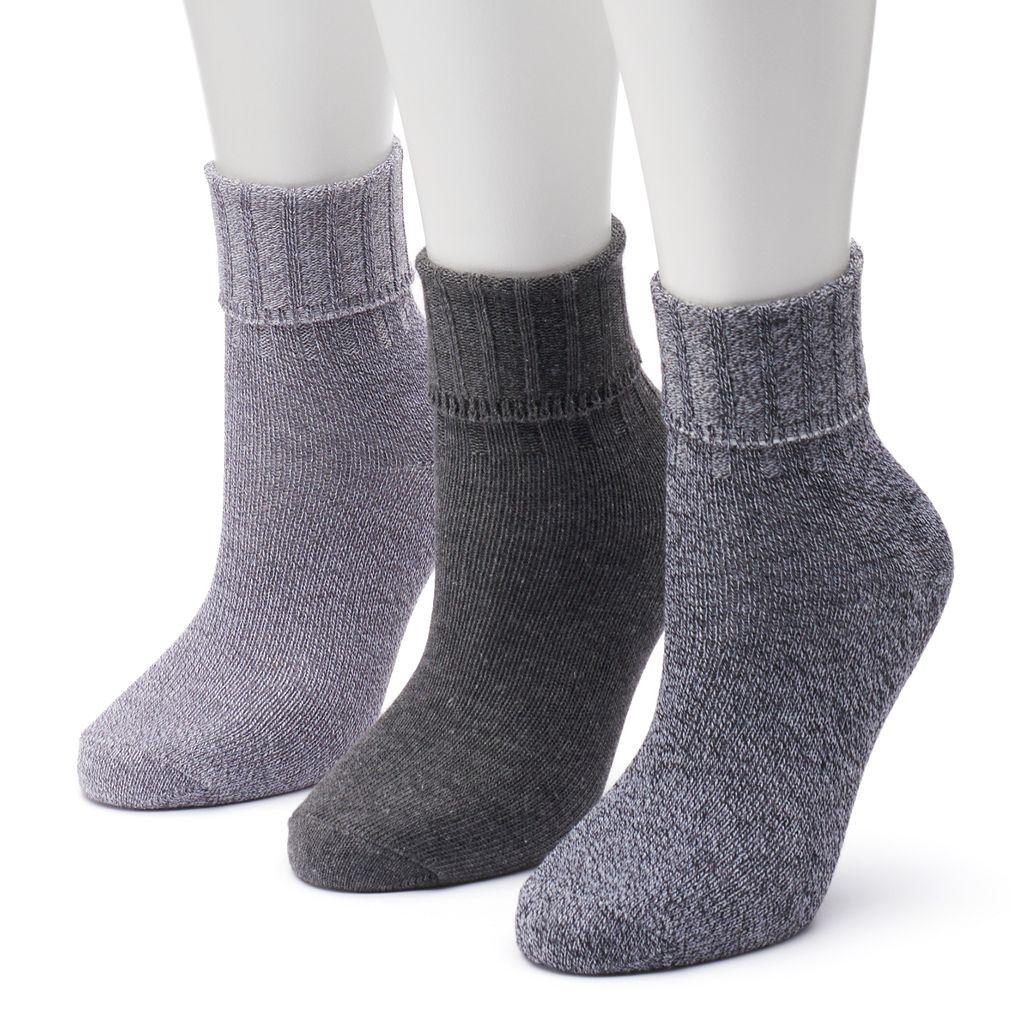 Women's SONOMA Goods for Life™ 3-pk. Ribbed Crew Socks