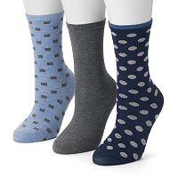 Women's SONOMA Goods for Life™ 3-pk. Dots Crew Socks