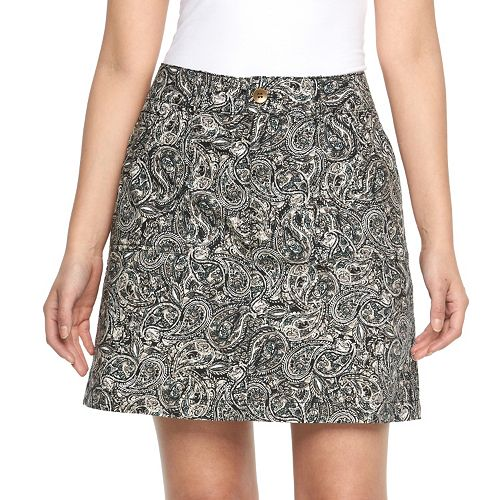 Women's Croft & Barrow® Paisley Poplin Skort
