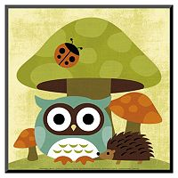 Art.com Owl and Hedgehog Wood Wall Art