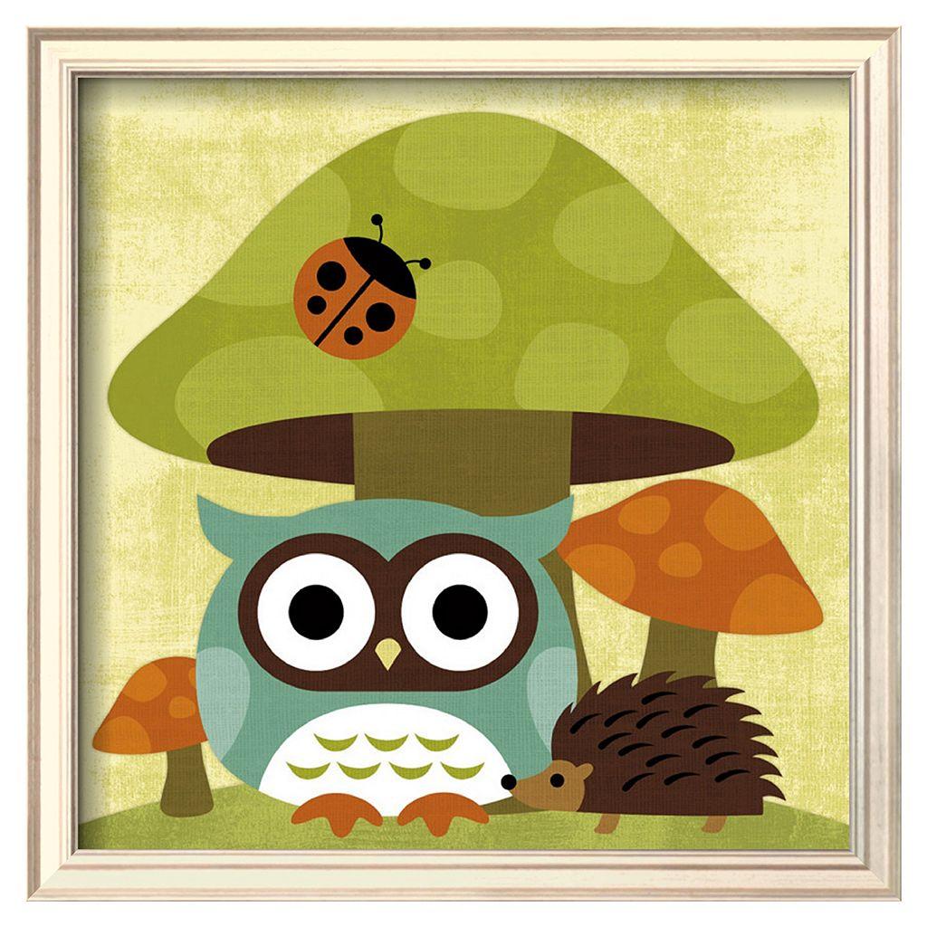 Art.com Owl and Hedgehog Framed Wall Art