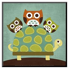Art.com Three Owls on Turtle Wood Wall Art