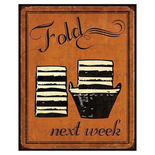 Art.com ''Fold'' Laundry Wall Art Print