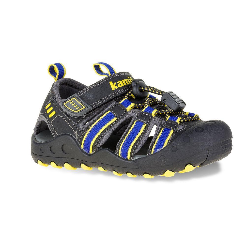 Black sandals for toddler boy - Kamik Crab Toddler Boys Sport Sandals