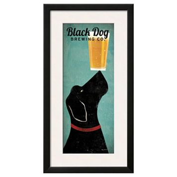 Art.com ''Black Dog Brewing Co.'' Framed Wall Art