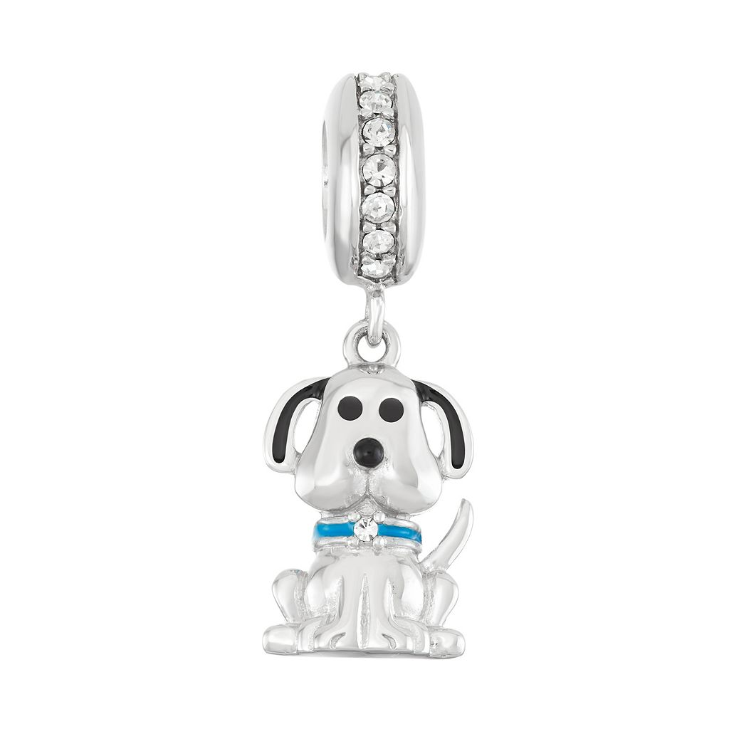 HSUS Sterling Silver Crystal Dog Charm